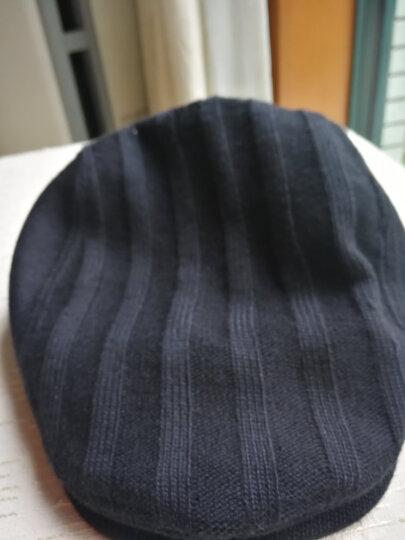 帽子男冬天韩版时尚针织鸭舌帽秋冬贝雷帽画家前进帽 黑色60CM 大小帽围 晒单图