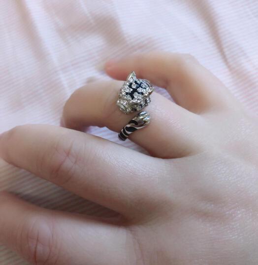 MyMiss 十二生肖戒指 女食指开口 925银镀铂金指环 情人节礼物 情侣送礼 银饰品 生日礼物 兔 (商家配送) 晒单图