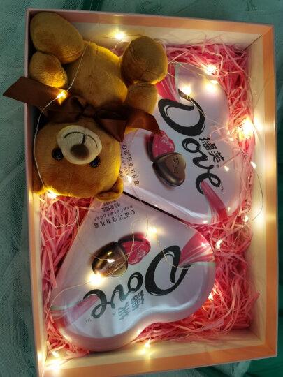 德芙 Dove马卡龙巧克力礼盒送女友礼物零食196g (心语巧克力98g*2+萌熊+礼盒) 晒单图