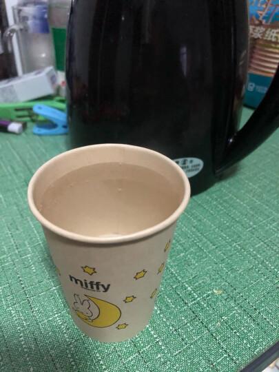 茶花 一次性纸杯子大号原浆本色无蜡淋膜225ml 四十支装 307002* 晒单图