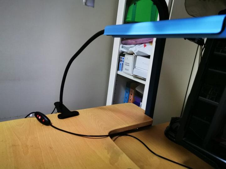 得利来学生护眼台灯LED夹子灯夹灯书桌灯卧室床头灯夹式护眼学习阅读灯 黑+充电调光 晒单图