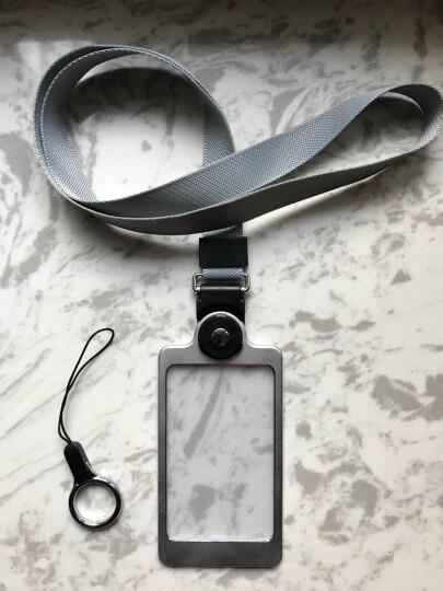 聚物酷 金属工作牌工作证卡套 多功能手机挂绳铝合金挂牌员工牌胸牌证件卡套定制 X01月光银 晒单图