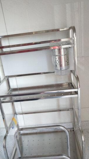 雅怡洁 不锈钢三层厨房置物架落地壁挂收纳架调料架刀架厨房用品筷子筒 三层35CM带筷筒(带砧板架)+4钩 晒单图