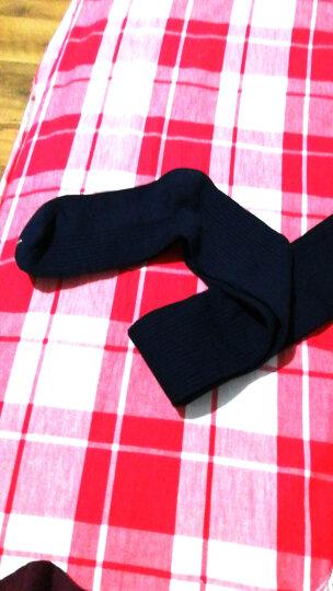 南极人袜子女士过膝袜春秋季长袜护膝袜日系甜美抽条显瘦微压长筒袜棉细竖条堆堆袜 藏青色 均码 晒单图