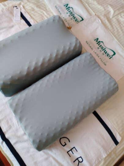 慕斯维 进口天然乳胶 93%天然乳胶含量 乳胶枕头颈椎护颈枕芯大波浪按摩型枕芯乳胶枕 原装进口狼牙枕95%乳胶含量买一送一 晒单图