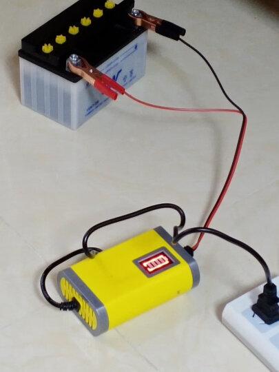 安力巨 12V电瓶充电器汽车轿车面包车摩托车智能铅酸蓄充电机 12V6A(汽车面包车电瓶充电器) 晒单图