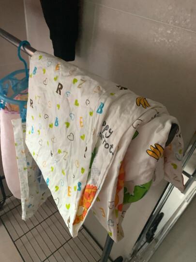 象宝宝(elepbaby)婴儿全棉床单 幼儿园儿童床婴儿床床单140*90cm(字母豆丁蓝色) 晒单图
