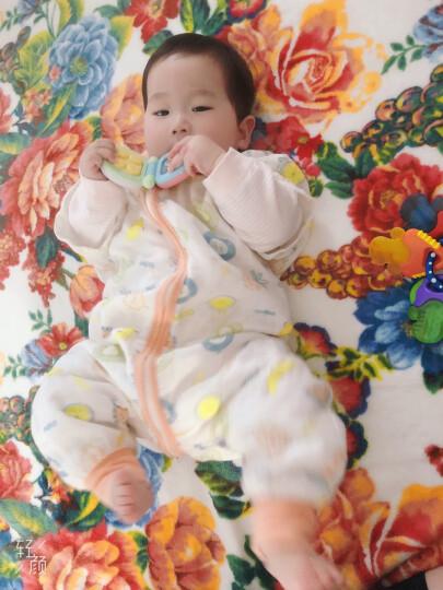 欧孕(OUYUN)婴儿睡袋春秋棉抱被一体睡袋宝宝防踢被儿童棉舒绒面料 浅粉棉花填充(270克加厚) L码(适合身高85-100cm) 晒单图