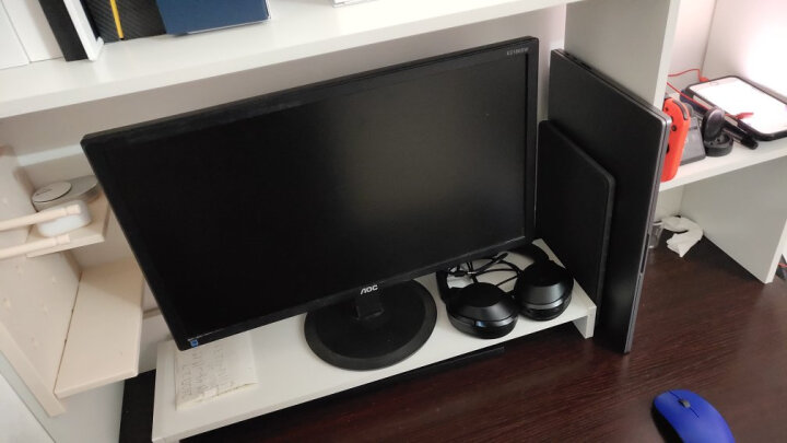 家乐铭品 桌面书架电脑桌增高架0.98M加宽加固显示器支架托架办公室置物架键盘收纳架书托书架储物架子 X212 晒单图