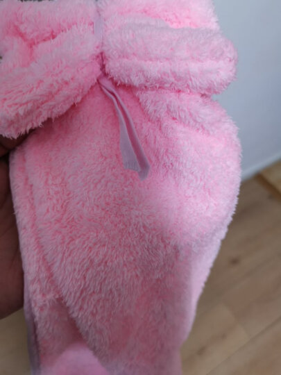 三利 珊瑚绒蝴蝶结挂式擦手巾 加厚不易掉毛强吸水 浴室厨房居家多用途抹手毛巾 30×44cm 桃粉色 晒单图