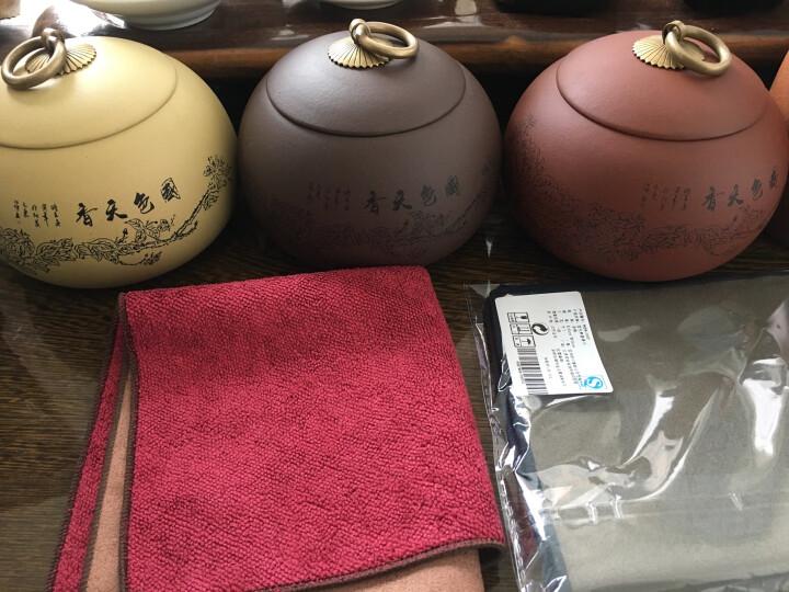 宏中(hongzhong) 宜兴紫砂茶叶罐 普洱红茶存茶罐小号 醒茶罐 密封罐220克装 国色天香段泥220克 晒单图