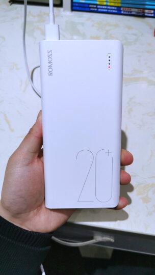罗马仕(ROMOSS)sense6加量版20000毫安时大容量充电宝手机平板移动电源2双输出适用于苹果小米华为oppo白色 晒单图