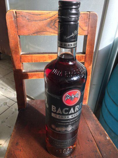 百加得(Bacardi ) 洋酒 朗姆酒 黑朗姆酒 750ml 晒单图