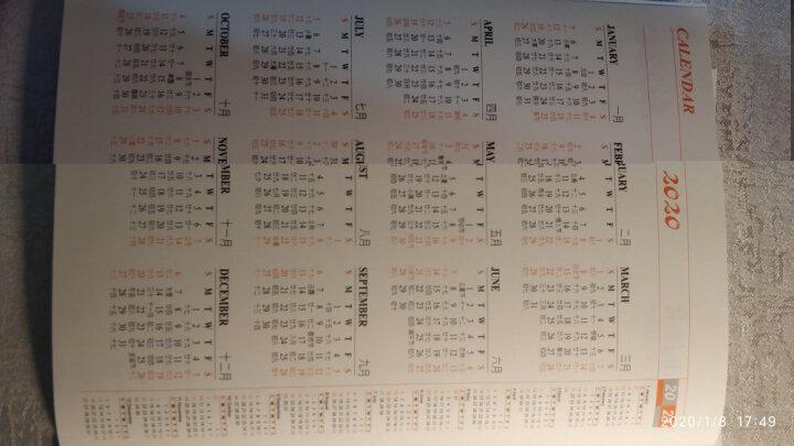 2022年月计划日程本工作小秘书 计划日程本 年历笔记本记事本定制logo效率手册 花纹红色 晒单图