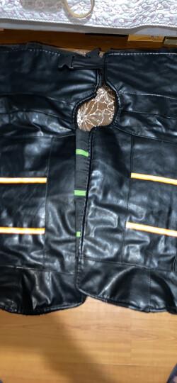 奇点(Qidian)摩托车护膝冬季保暖男女电动车自行车护膝皮革pu电瓶车护膝腿加厚加绒 晒单图