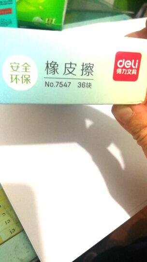 得力(deli)36块柔软长条学生橡皮擦 彩色考试文具绘画橡皮 7547 晒单图