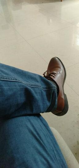 巴图腾皮鞋男士真皮商务正装鞋青年男鞋大码内增高皮鞋小码镂空透气潮流绅士新郎婚鞋男 加绒款-黑色 42(260) 晒单图