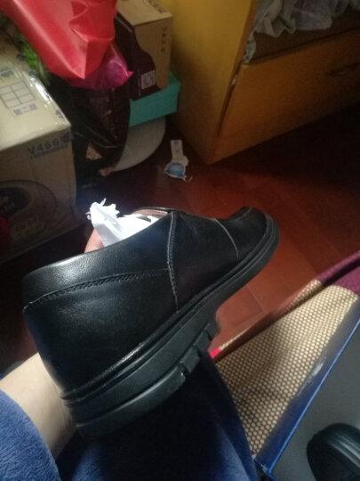 康奈男鞋 男士商务休闲鞋圆头套脚休闲皮鞋男轻质绅士鞋子 1177783 咖色 43 晒单图