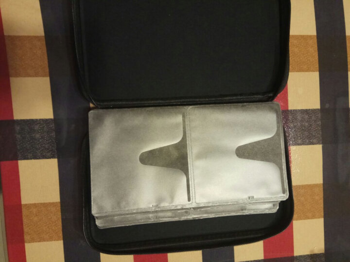 山业 日本SANWA 56片蓝光光碟收纳盒 CD/DVD收纳包 光盘包 碟片包 WLBD56 浅灰色 晒单图