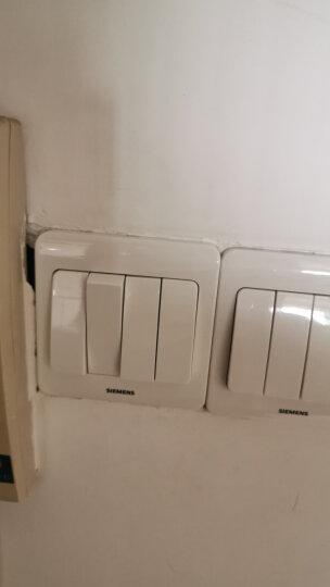 西门子(SIEMENS)开关插座 四开单控面板 86型暗装面板 远景雅白色 晒单图