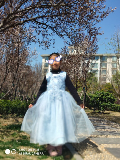 小咕嘟熊 童装女加绒加厚上衣秋冬装打底衫休闲儿童女童毛衣 黑色 130 晒单图