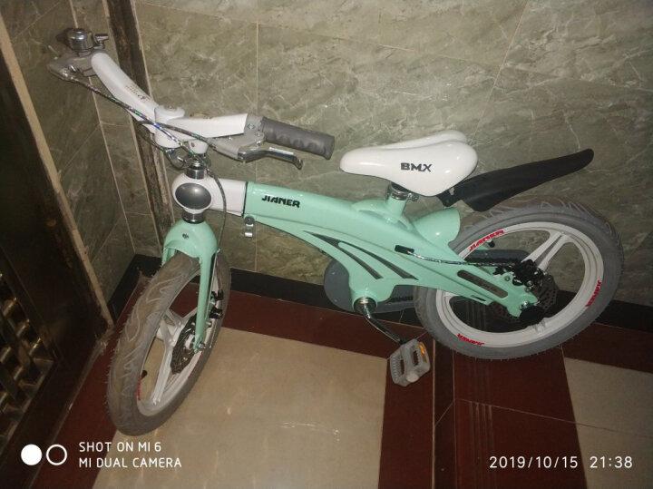 【可加长】健儿(jianer)儿童自行车男女小孩单车12/14/16寸 概念豪华款-蒂芙尼(2019限量新款) 16寸 晒单图