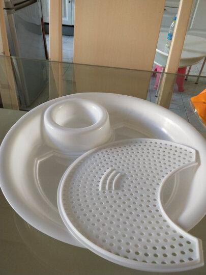 盘子 创意带蒸屉双层盘 带醋碟水饺小吃盘子便清洗个性餐盘 大号 晒单图