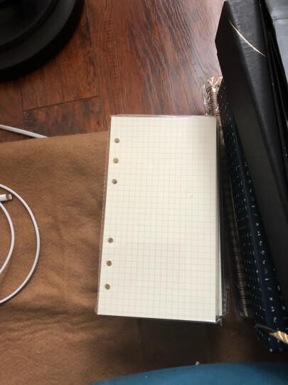 YOQUN 道林活页纸 活页笔记本替芯活页内芯A4B5A5A6A7空白方格牛皮纸可定制 A6-6孔-横线 晒单图