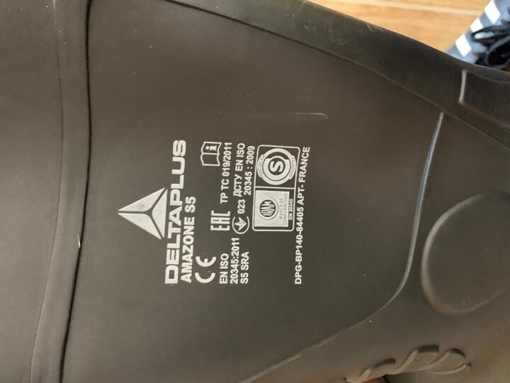 代尔塔 劳保鞋雨鞋 高帮安全鞋 耐酸碱 PVC防水防滑雨靴 防砸防穿刺 301407 黑色 40 晒单图