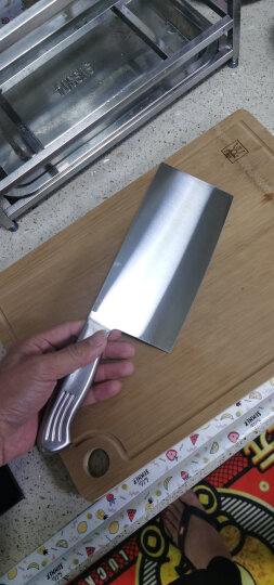 十八子作刀具 厨房家用不锈钢菜刀斩骨切菜银盈斩切刀S2504-A 晒单图