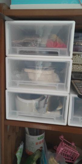 青苇 加厚抽屉收纳盒 组合式可叠加储物柜 整理盒 鞋盒 34*25*11cm 2个装 晒单图