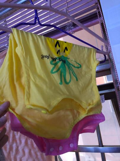 婴儿衣服夏季薄款0-1岁新生儿连体衣纯棉哈衣3个月女宝宝夏装无袖爬服背心三角包屁衣男超薄满月大红 水果菠萝+可爱章鱼 66CM(建议体重7~11斤) 晒单图