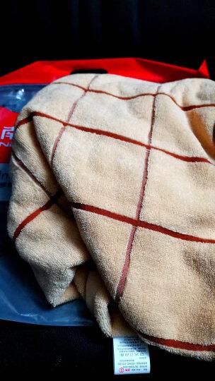 南极人纯棉浴巾男女加大加厚柔软吸水毛巾伴侣 棕+蓝灰=2条浴巾66 70*140cm 晒单图