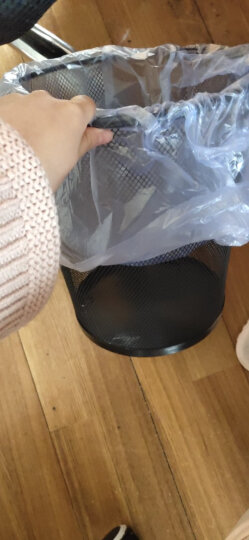 快乐猫(KLM)中号分类金属网垃圾桶 厨房卫生间家用清洁桶 办公环保纸篓φ240mm 9L TS102 晒单图