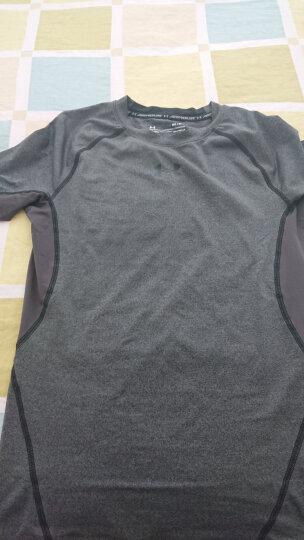 安德玛官方 UA Armour 男子强力伸缩型运动短袖T恤 Under Armour-1257468 绿色716 XL 晒单图