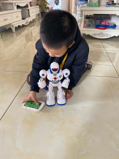 智能遥控机器人充电机械战警可对战唱歌跳舞编程电动早教玩具恐龙仿真动物霸王龙女孩男孩儿童节暑假礼物 【蓝色】手感应遥控摩卡战警 晒单图