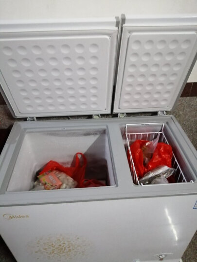 美的(Midea)200升 双温双箱冷柜 家用商用冰柜 一级能效 冷冻冷藏卧式冰箱 BCD-200DKM(E) 晒单图