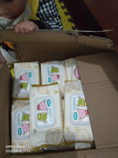 五羊(FIVERAMS)婴儿手口湿巾宝宝护肤柔湿湿纸巾一次性洗脸巾儿童温和清洁擦脸便携出行湿巾 手口湿巾80片*1包 晒单图