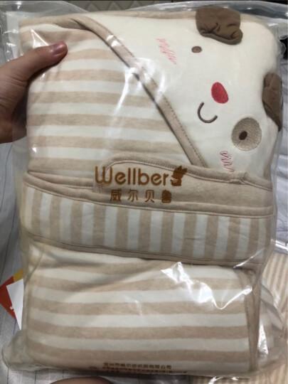 威尔贝鲁WELLBER婴儿抱被包被包巾春秋新生儿用品纯棉秋冬加厚初生宝宝婴幼儿抱毯 小猪80*80(薄棉60g) 加厚棉(建议温度5-15) 晒单图