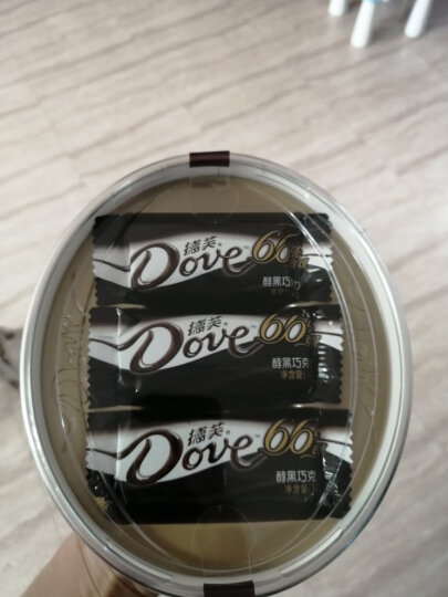 德芙 Dove分享碗装醇黑巧克力66% 糖果休闲零食员工福利 252g新旧包装随机发货 晒单图