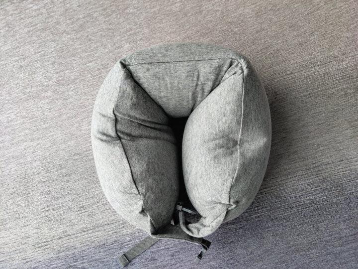 京东京造 微粒子多功能颈枕 U型枕头 旅行枕 深咖条纹 晒单图