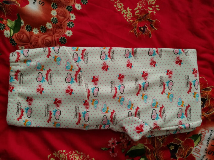 Temami孕妇月子服套装保暖内衣喂奶衣棉毛衫裤外出哺乳睡衣居家服 加绒加厚 薄款 波纹点点(薄款) L 晒单图