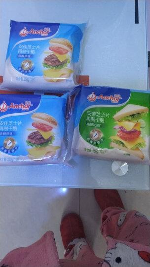 安佳(Anchor)切达奶酪芝士片 原味 250g 新西兰进口 再制干酪 早餐 面包 披萨 晒单图