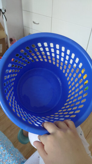 天章办公(TANGO) 垃圾桶塑料实色办公纸篓/垃圾篓办公厨房卫生间客厅 255mm直径 蓝色 探戈系列办公文具 晒单图