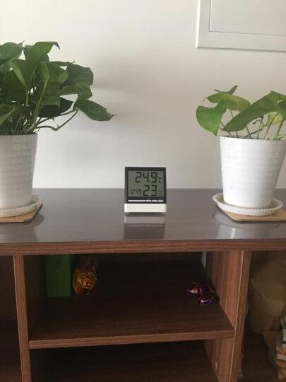 雨花泽(Yuhuaze)台式电子钟温湿度计 家用儿童闹钟室内婴儿房时钟高精度温度计湿度计 晒单图