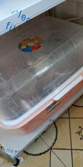 沃德百惠(WORTHBUY)碗架碗柜碗筷收纳盒沥水架碗碟架厨房置物架收纳柜 粉色大号 晒单图