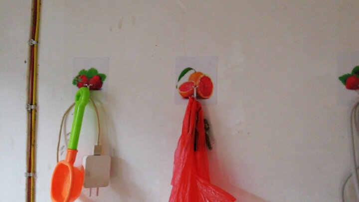 20只装 凤全无痕粘钩厨房浴室免钉免打孔粘胶墙壁魔力贴强力挂钩 水果组合(20只装) 晒单图