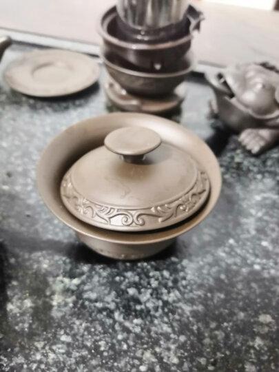 鼎器 原矿紫砂茶具套装整套家用送礼办公功夫茶杯陶瓷茶道茶壶手工紫泥 10款:17件浮雕紫砂 晒单图