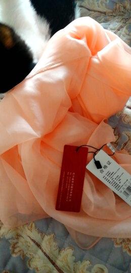 上海故事真丝丝巾女夏季纯色百搭围巾女士桑蚕丝披肩防晒沙滩冬天薄款长款纱巾母亲节礼物礼盒装 紫色 晒单图