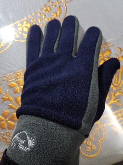 威迪瑞户外抓绒手套男女款跑步加厚保暖手套冬季防风健身骑行全指手套 玫红(拉链触屏款) M 晒单图